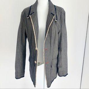 English Laundry Tailored Graphic Tweed Blazer Coat